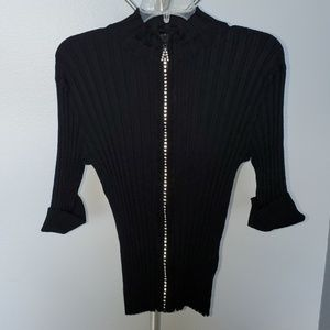 Yvos by dressbarn zipper top